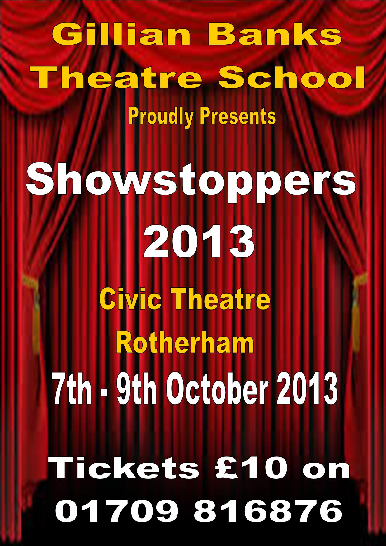 showstoppers poster 2013